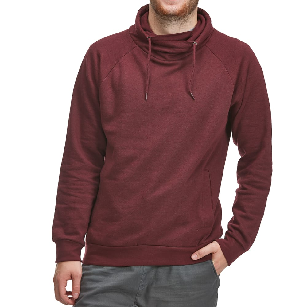 Burnside Guys Cowl Neck Pullover - Red, XL