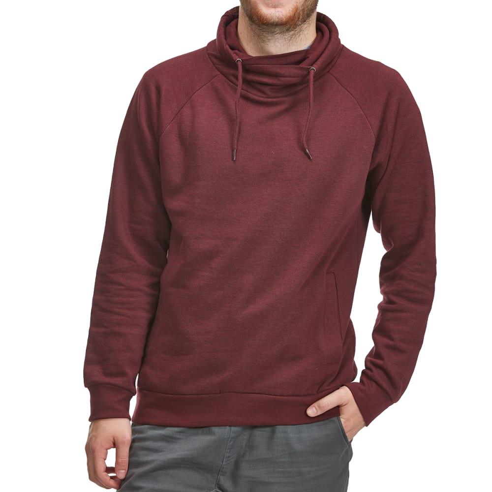 BURNSIDE Guys' Cowl Neck Pullover - B-BURGUNDY