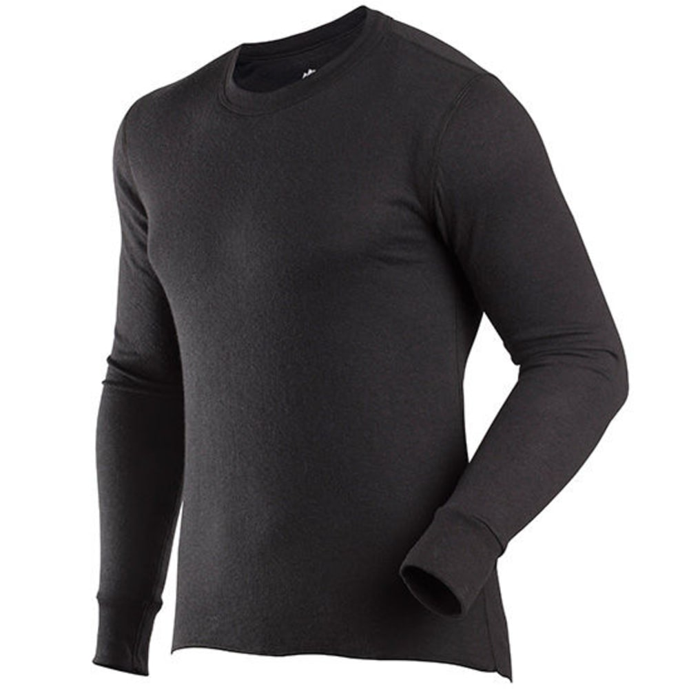 Coldpruf Men's Basic Thermal Long Sleeve Crew - Black, S