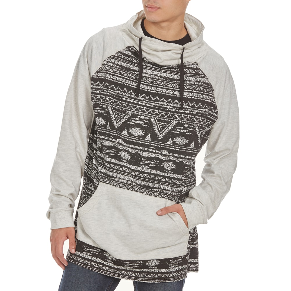 BURNSIDE Guys' Cowl-Neck Jersey Knit Long-Sleeve Pullover - C-TAHOE