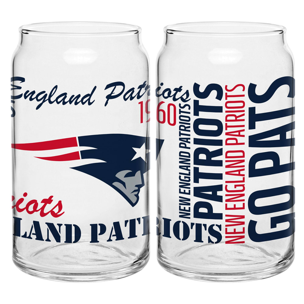 NEW ENGLAND PATRIOTS Spirit Glass Can - NAVY
