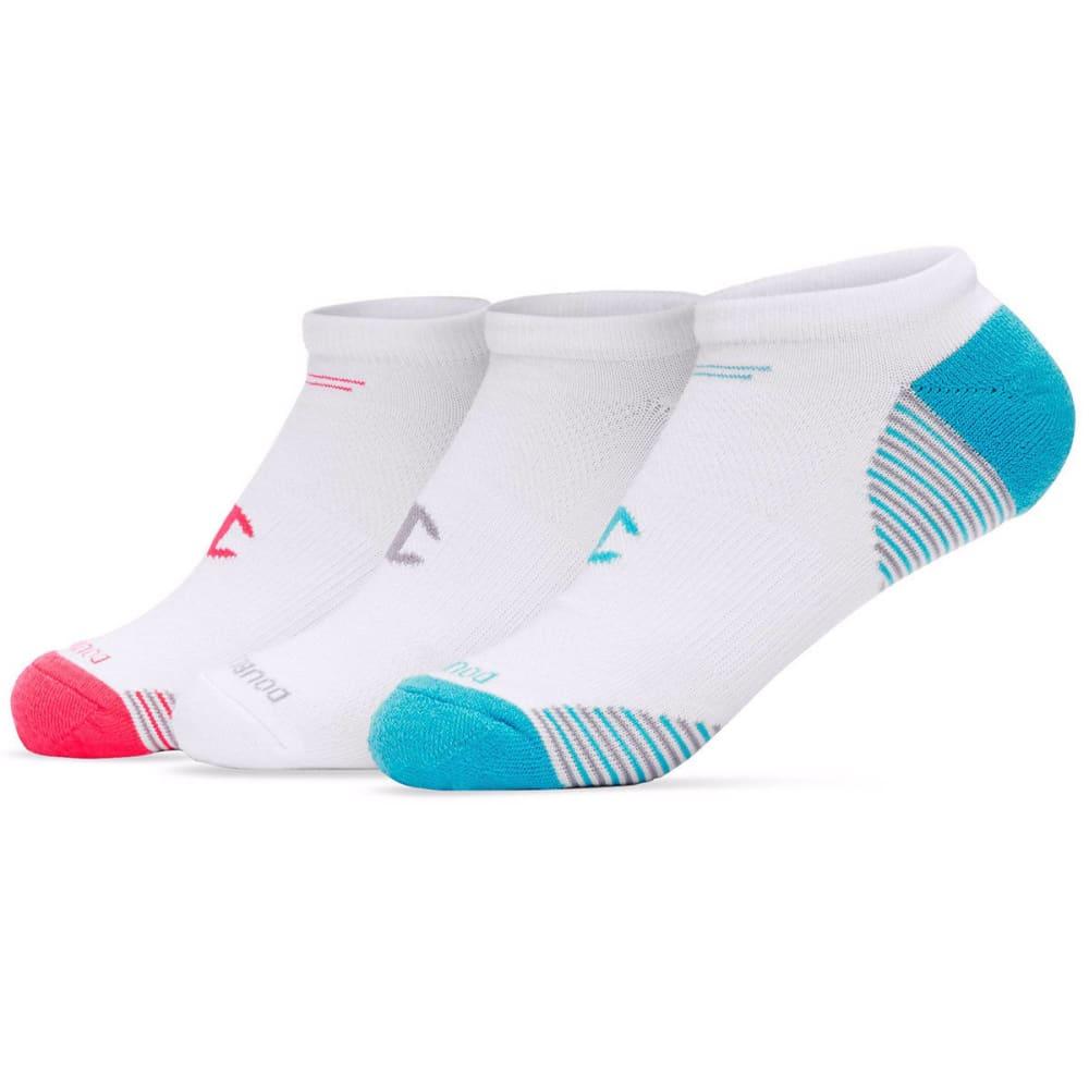 CHAMPION Women's No Show Socks, 3 Pack - WHITE/PINK