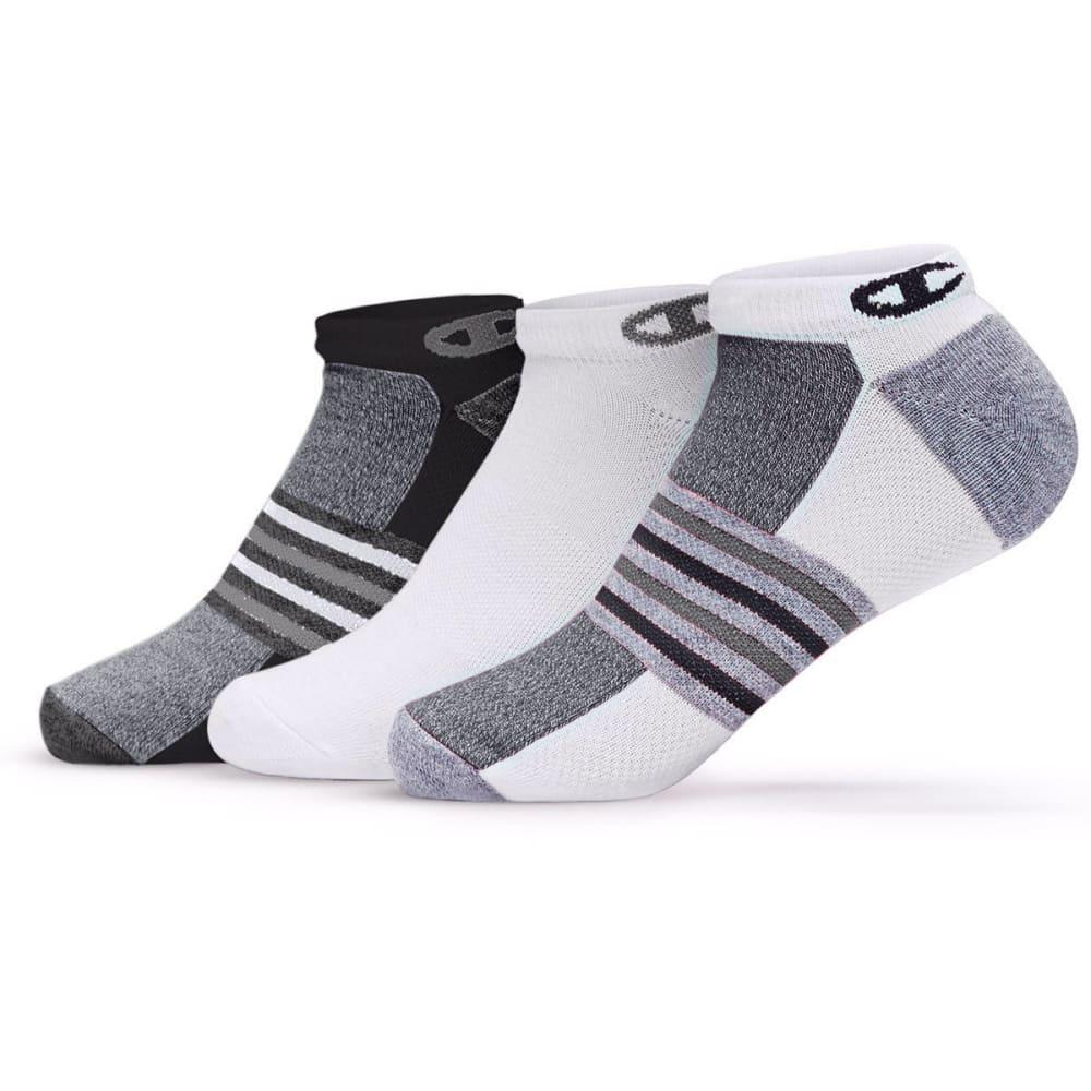 CHAMPION Women's No-Show Training Socks, 3 Pack - BLACK/GREY