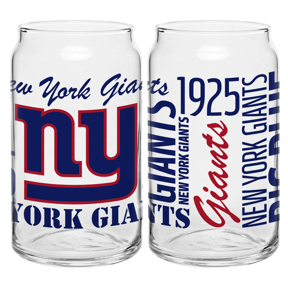 NEW YORK GIANTS Spirit Glass Can - ROYAL BLUE