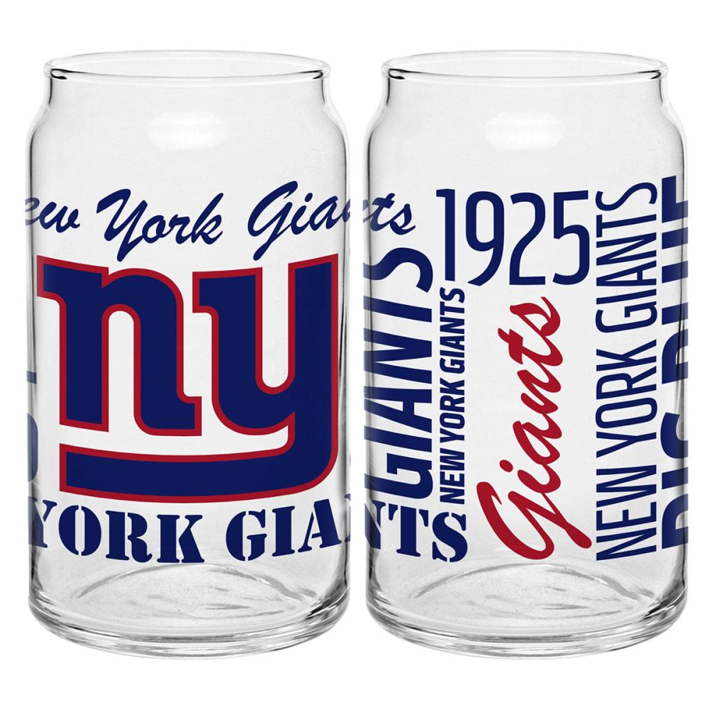 NEW YORK GIANTS Spirit Glass Can - ROYAL BLUE
