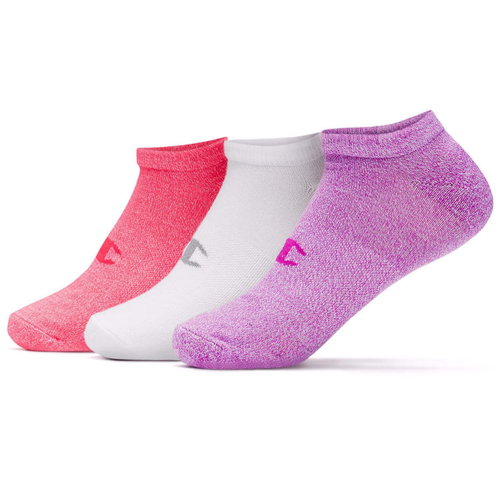 CHAMPION Women's No-Show Training Socks, 3 Pack - PINK HEATHER