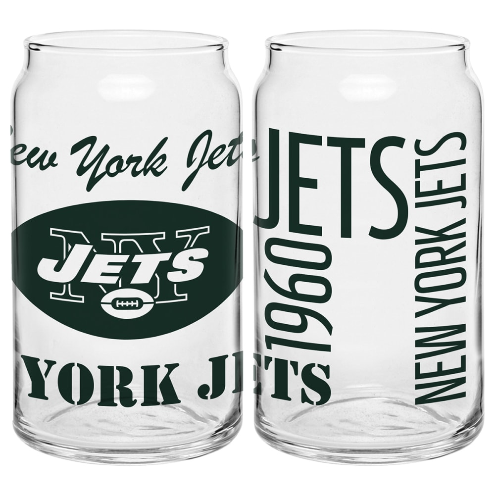 NEW YORK JETS Spirit Glass Can - GREEN