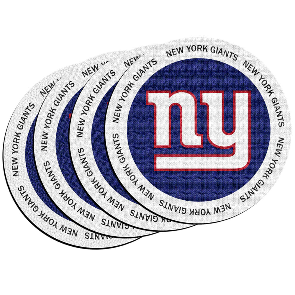 NEW YORK GIANTS ROH Coasters, 4 Pack - ROYAL BLUE