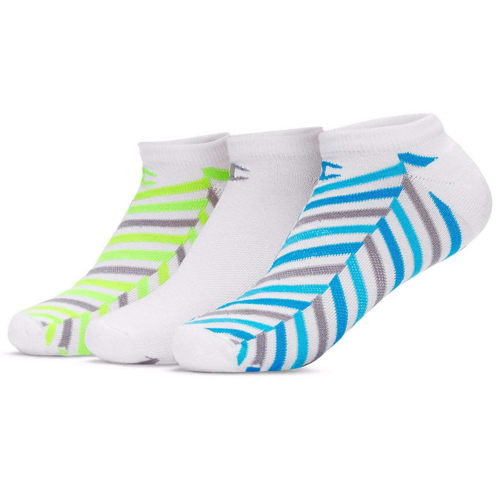 CHAMPION Women's No Show Socks, 3 Pack - WHITE/BLUE