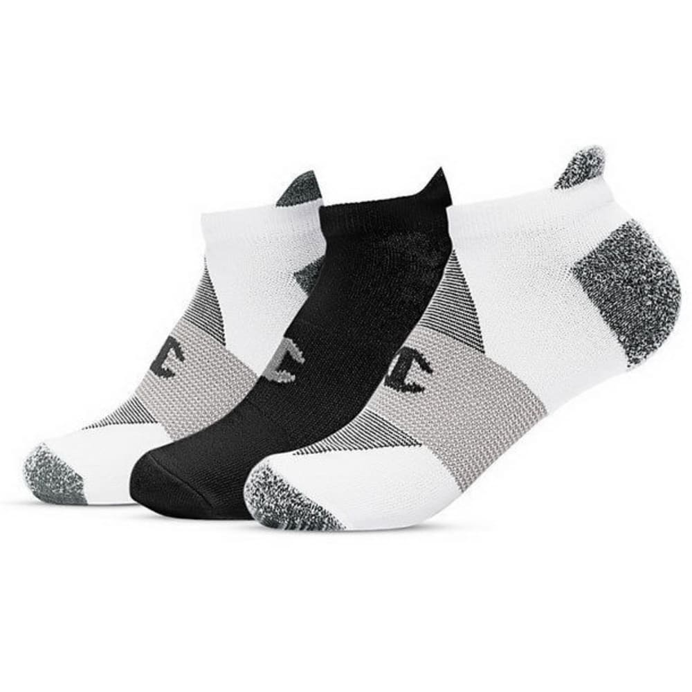 CHAMPION Women's Heel Shield Socks, 3 Pack - WHITE/BLACK