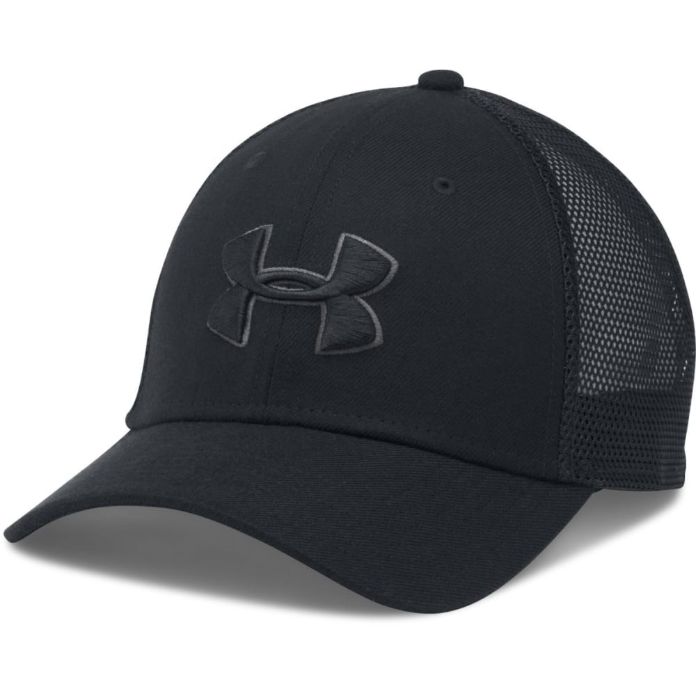 UNDER ARMOUR Men's Closer Trucker Hat - BLACK-001