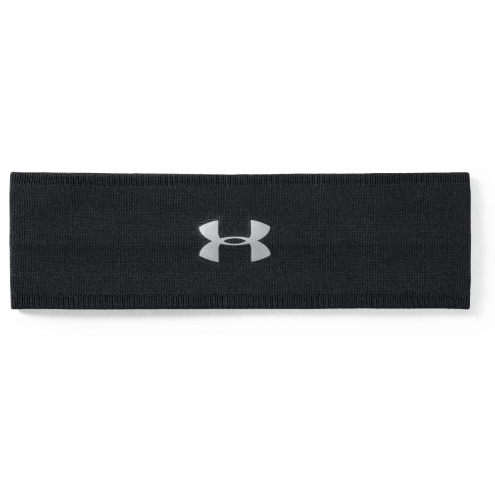 UNDER ARMOUR Women's UA Perfect Headband 2.0 - 004-BLACK/METSILVER