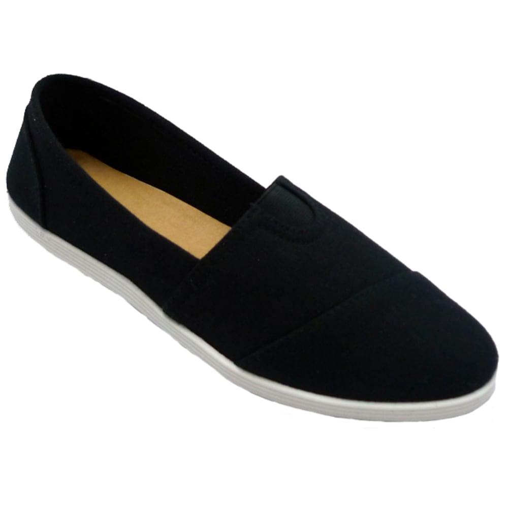 WILD DIVA Women's Maine Canvas Shoes - BLACK