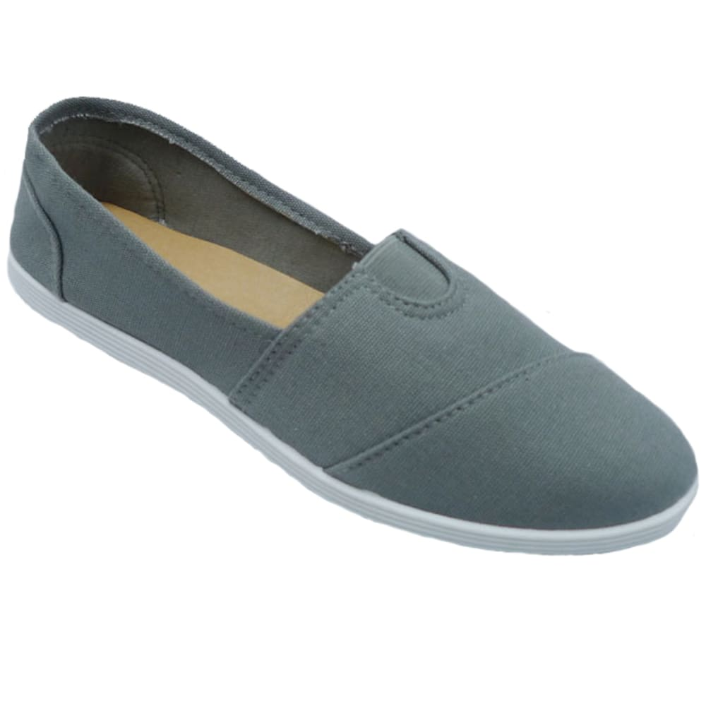 WILD DIVA Women's Maine Canvas Shoes - GREY