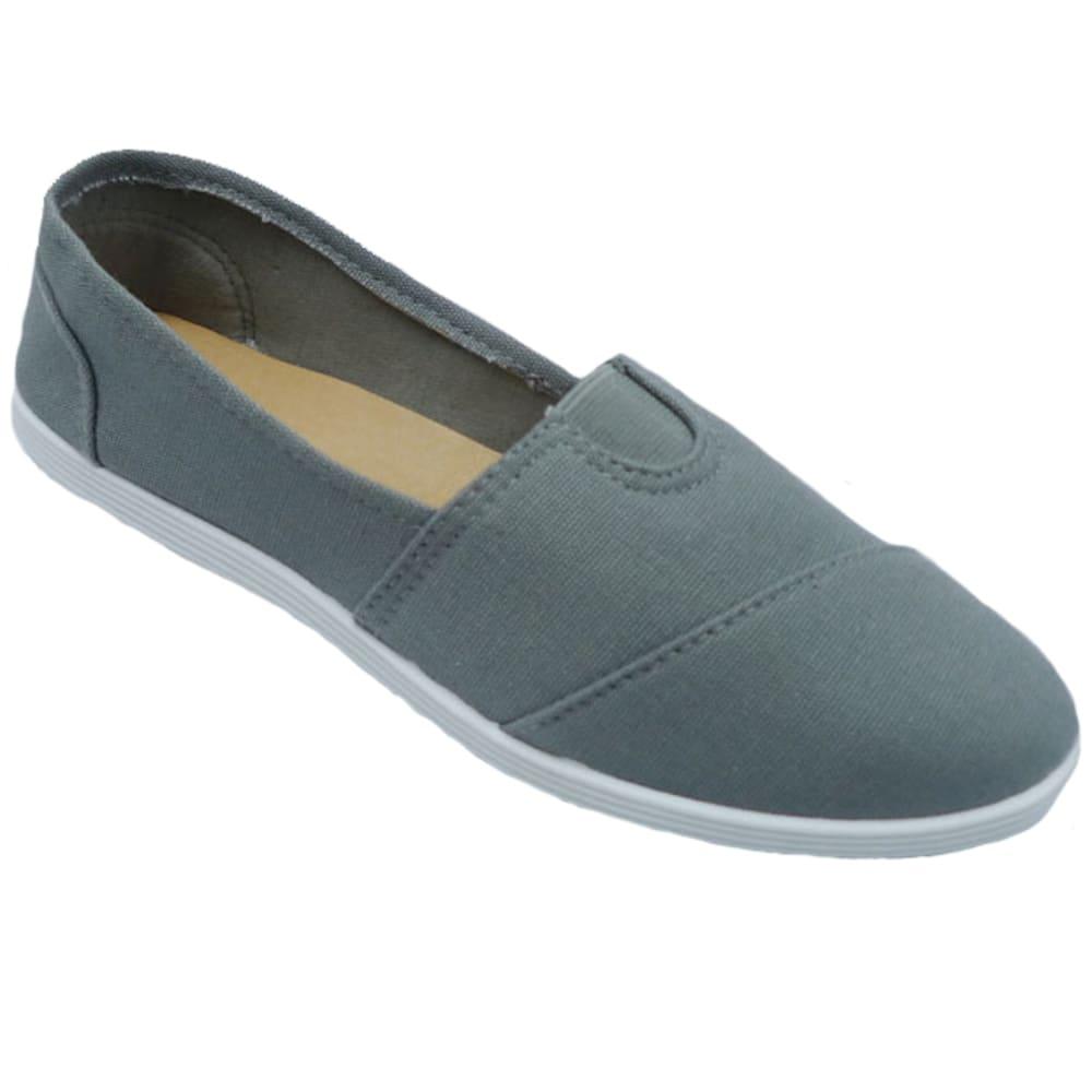 WILD DIVA Women's Maine Canvas Shoes - GREY