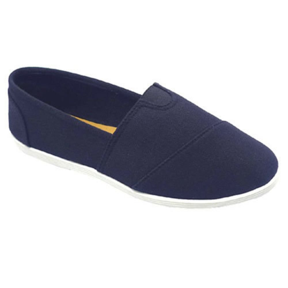 WILD DIVA Women's Maine Canvas Shoes - NAVY