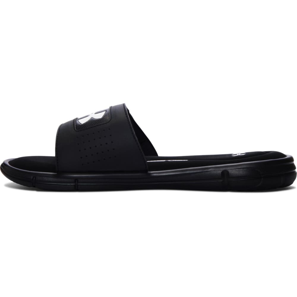 UNDER ARMOUR Men's Ignite Slide Sandals - BLACK/WHITE-001