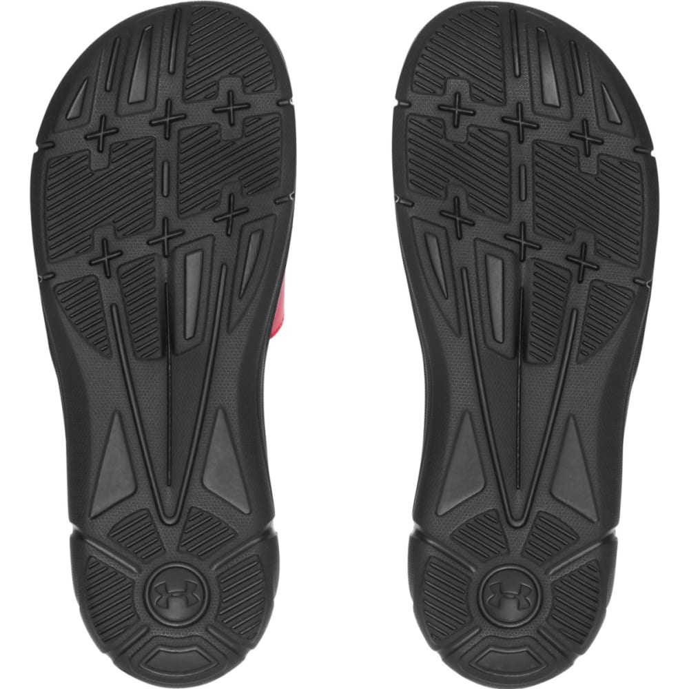 UNDER ARMOUR Men's Ignite Slide Sandals - BLACK/RED-006