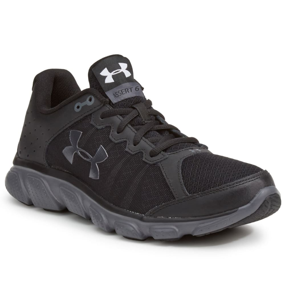 UNDER ARMOUR Men's Micro G Assert 6 Running Shoes - BLACK