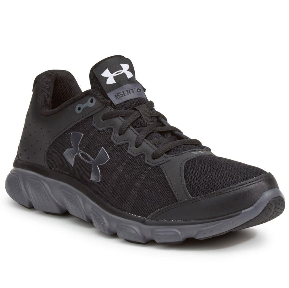 UNDER ARMOUR Men's Micro G Assert 6 Running Shoes - BLACK