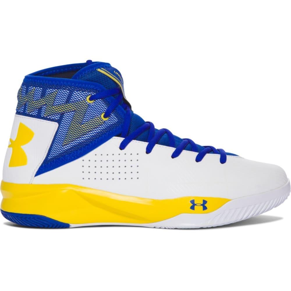 UNDER ARMOUR Men's Rocket 2 Basketball Shoes, Royal/Team Gold 8