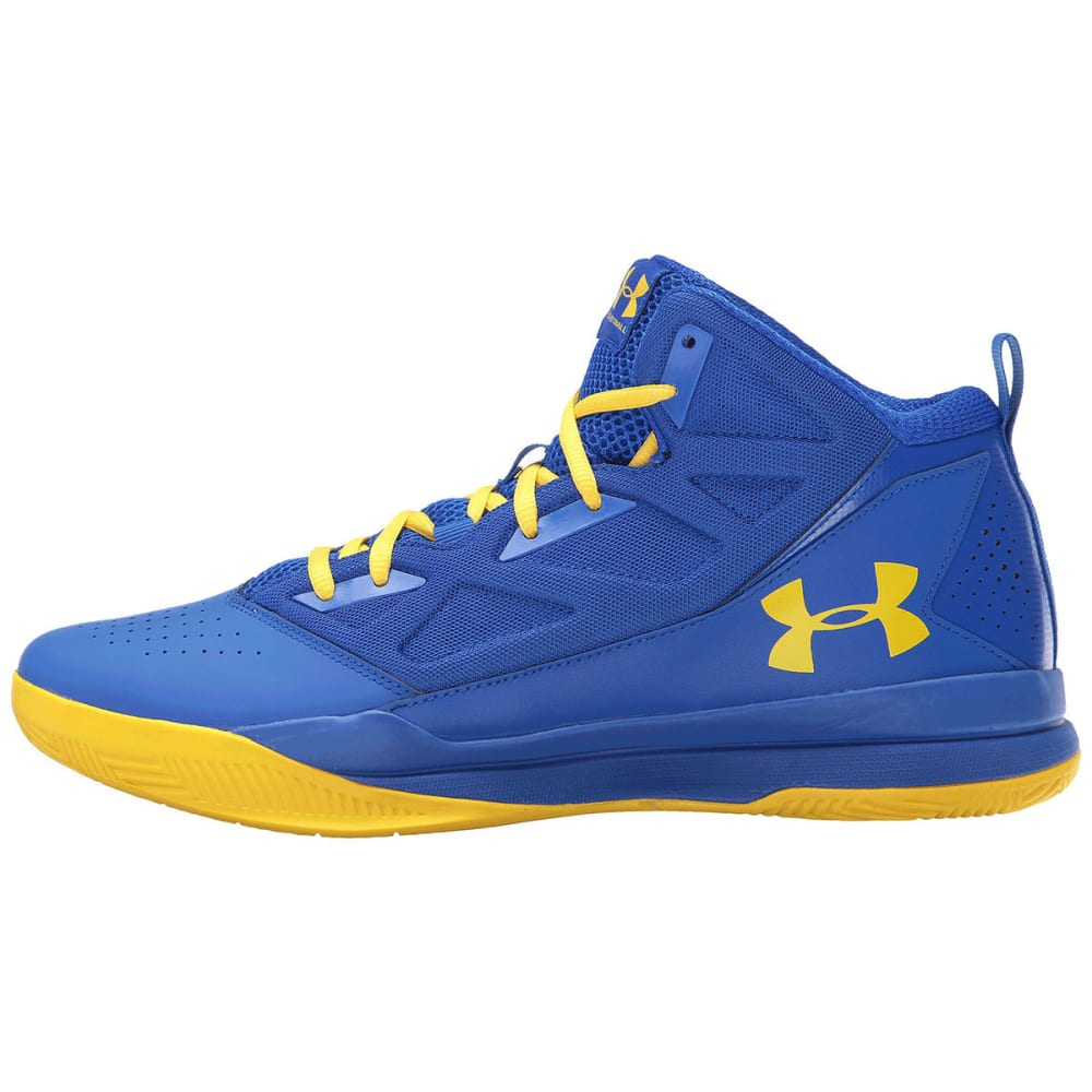 UNDER ARMOUR Men's Jet Mid Basketball Shoes - ROYAL BLUE