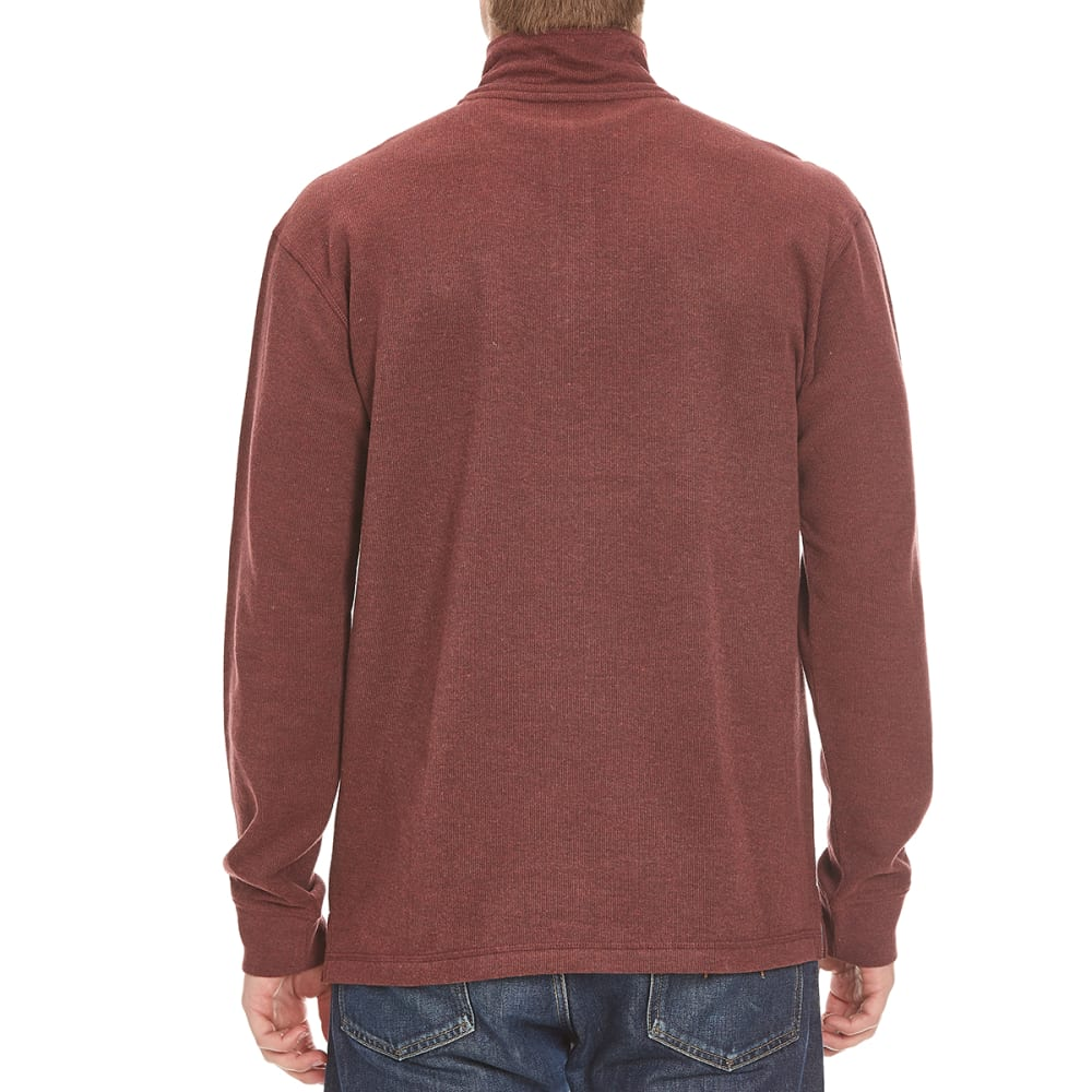 RUGGED TRAILS Men's French Rib ¼-Zip Knit Pullover - PORT HTR