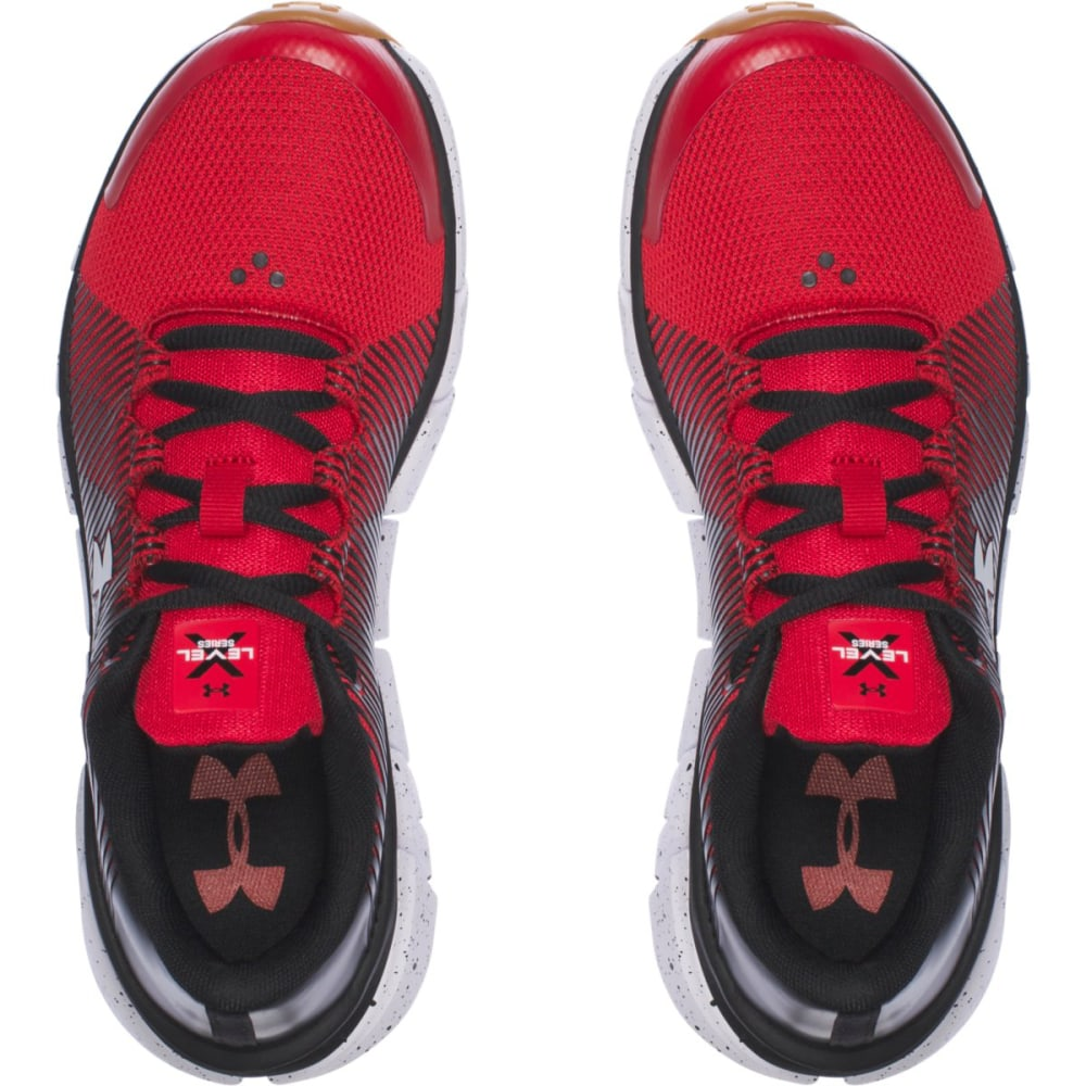 UNDER ARMOUR Boys' Grade School UA X Level Scramjet Running Shoes, Red/Black/White - JET RED