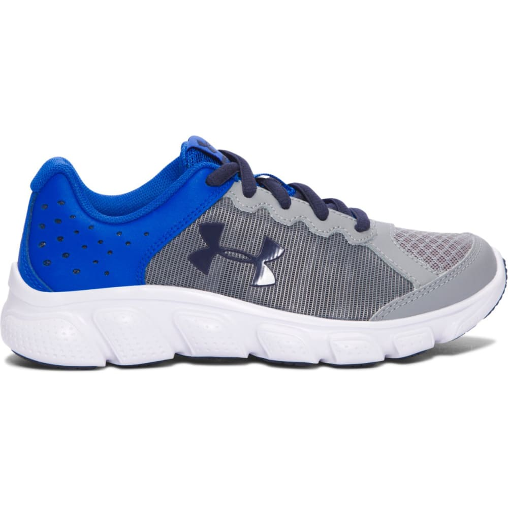 UNDER ARMOUR Boys' Pre-School Micro G Assert 6 Running Shoes, Steel/Ultra Blue/Midnight Navy - STEEL