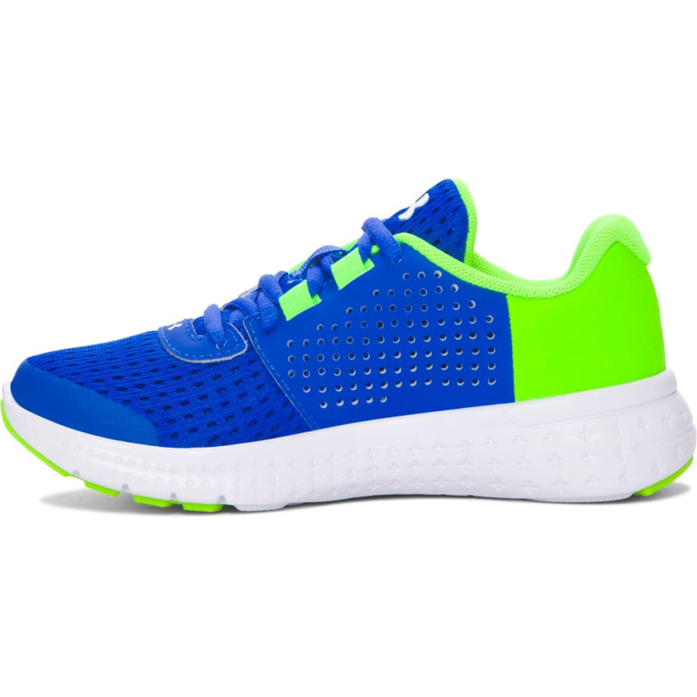 UNDER ARMOUR Boys' Pre-School UA Micro G® Fuel Running Shoes, Ultra Blue/Hyper Green/White - ULTRA BLU