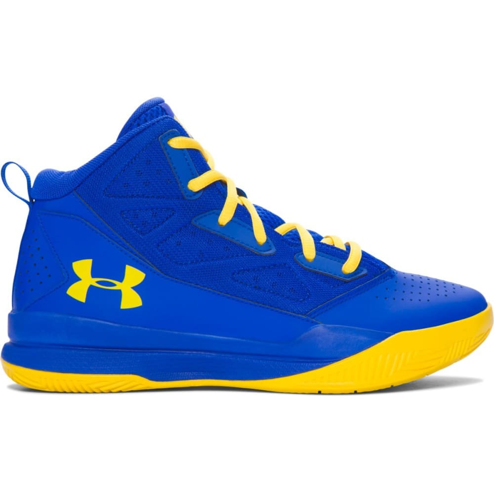 UNDER ARMOUR Boys' Grade School UA Jet Mid Basketball Shoes - ROYAL BLUE