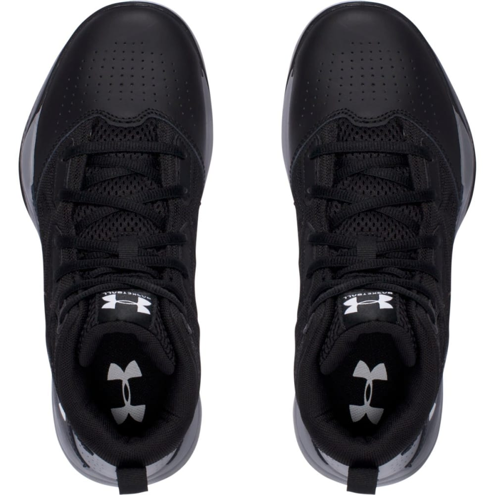 UNDER ARMOUR Boys' Grade School Jet Mid Basketball Shoes, Black - BLACK