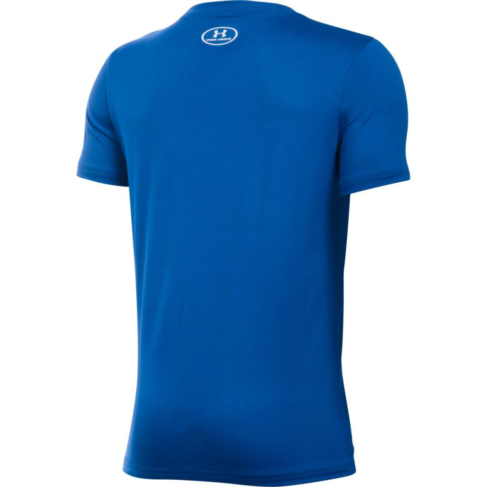 UNDER ARMOUR Boys' Diamond Logo Short Sleeve Tee - 400 ROYAL / WHITE