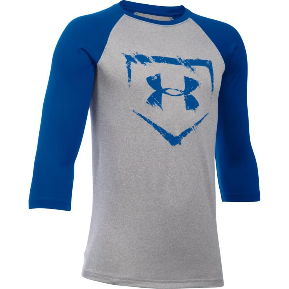 UNDER ARMOUR Boys' Baseball Diamond ¾ Sleeve Tee - 025 TGH / ROYAL