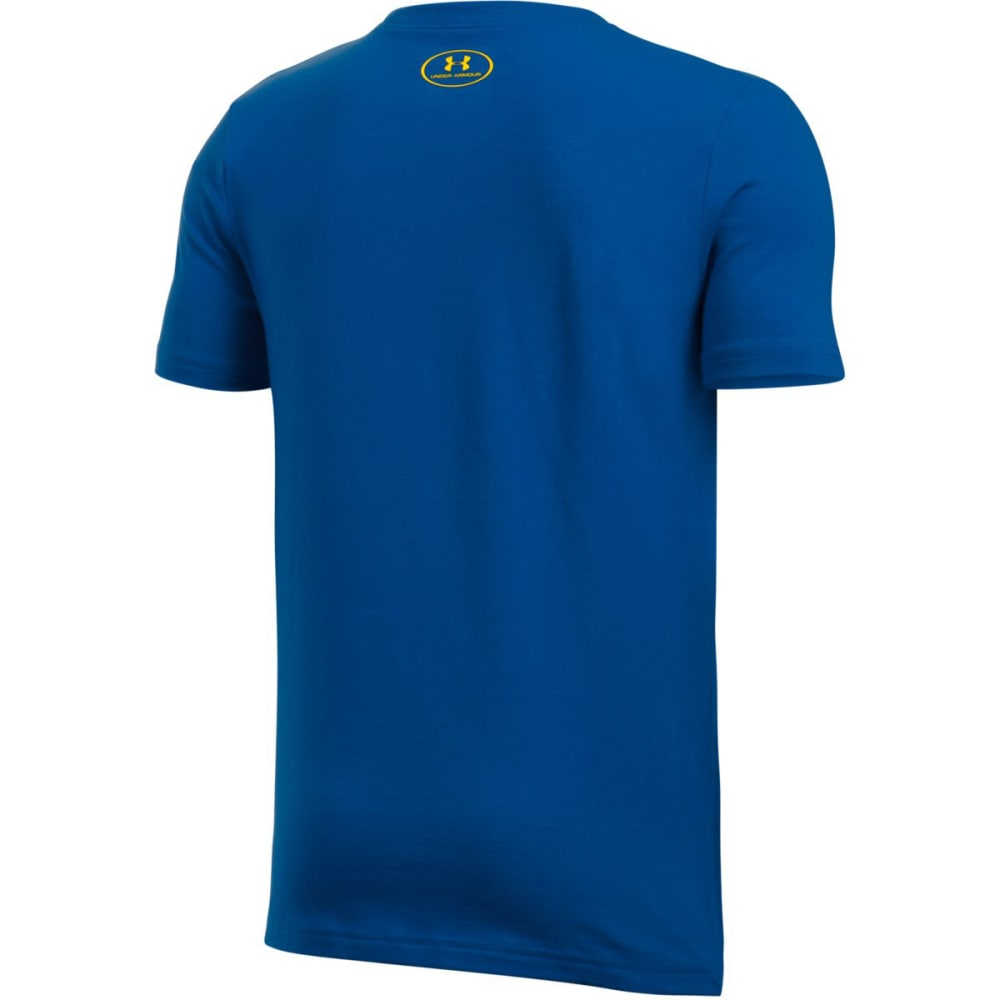 UNDER ARMOUR Boys' SC30 Blessed With Game Screen Tee - ROYAL / WHITE / TAXI