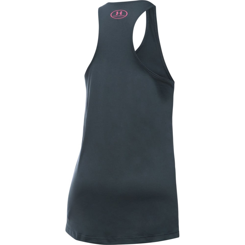 UNDER ARMOUR Girls' Under Armour Tank Top - 008-GRY/WHT/PINK