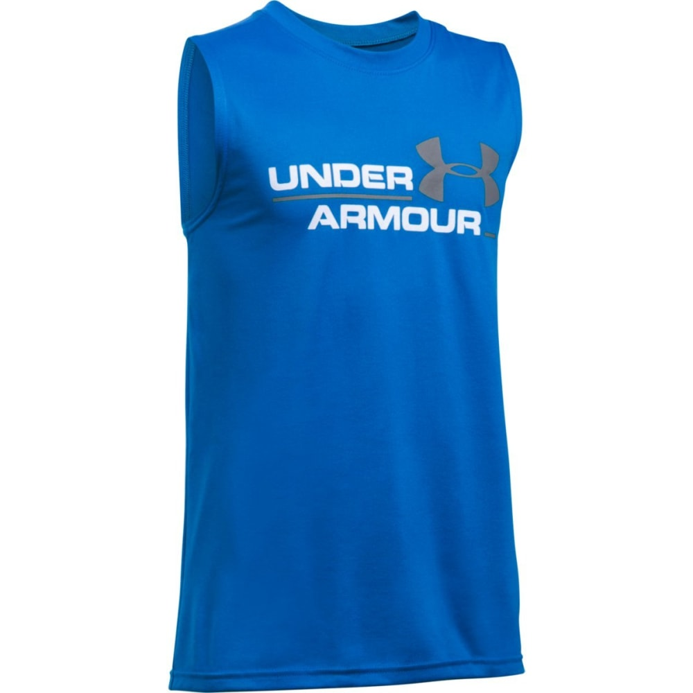 UNDER ARMOUR Boys' UA Duo Logo Tank - 907 ULTRA BLUE