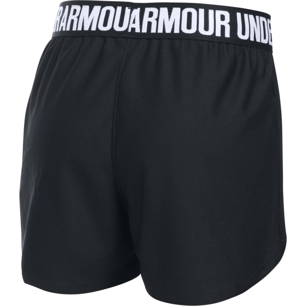 UNDER ARMOUR Girls' Play Up Running Shorts - 001-BLK/BLK/WHT