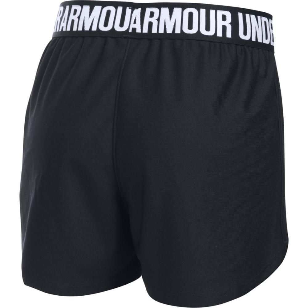 UNDER ARMOUR Girls' Play Up Running Shorts - 001-BLK/BLK/WHT