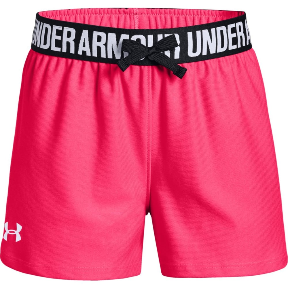 UNDER ARMOUR Girls' Play Up Running Shorts - PENTA PINK/BLK-975