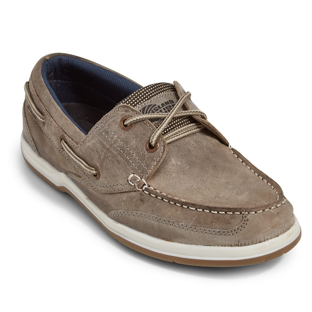ISLAND SURF COMPANY Men's Classic Boat Shoes - GRAY