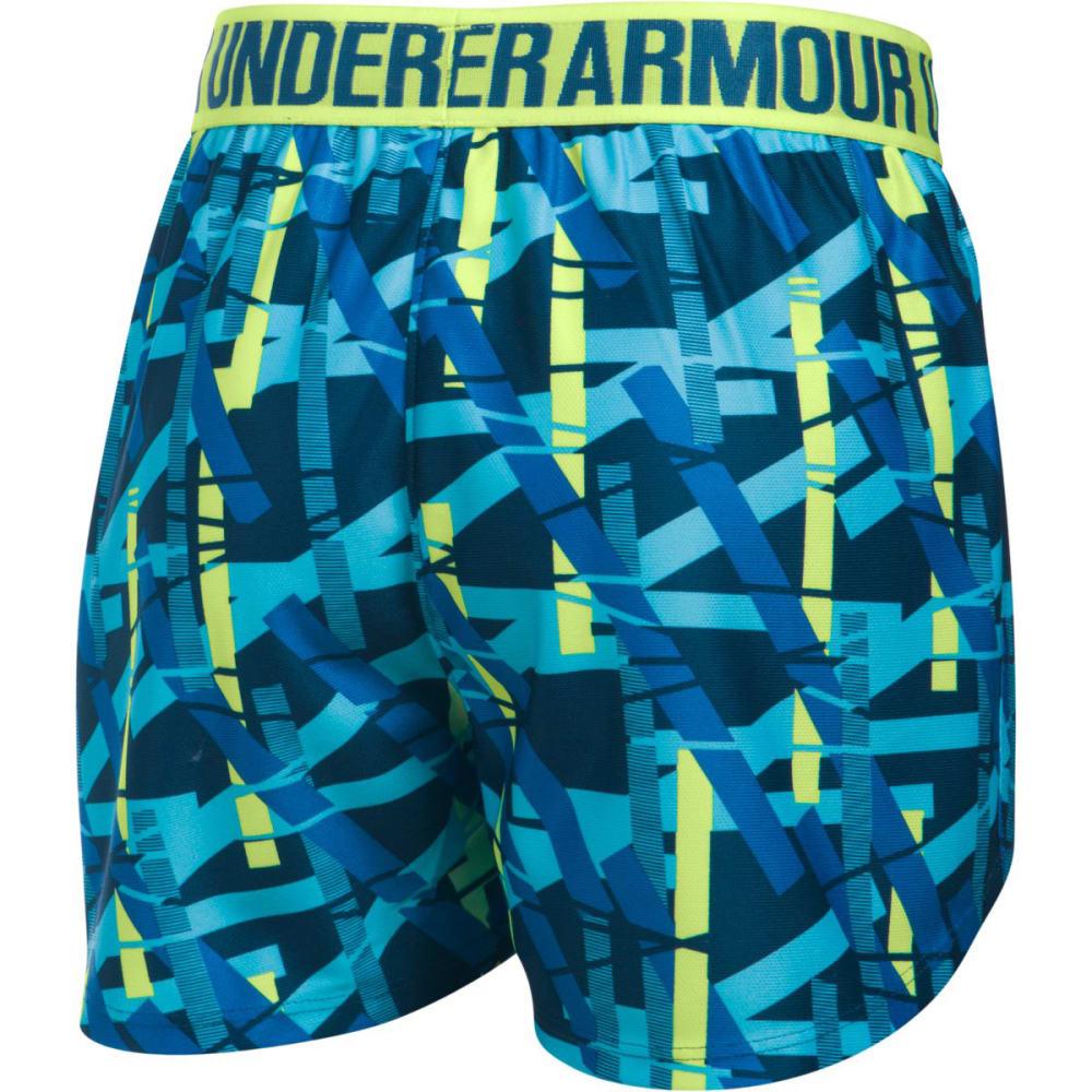 UNDER ARMOUR Girls' Play Up Printed Running Shorts - 448-VENETIAN BLUE