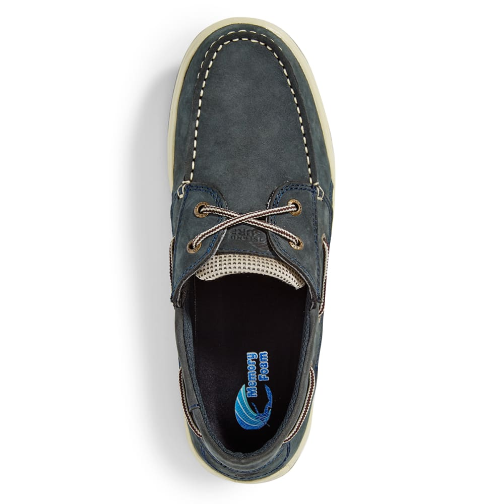 ISLAND SURF COMPANY Men's Helm Lite Boat Shoes - NAVY