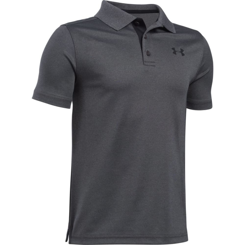 UNDER ARMOUR Boys' Performance Polo Short-Sleeve Shirt - 090 CARBON HTR