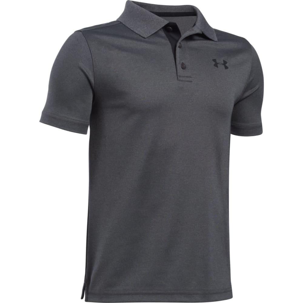 UNDER ARMOUR Boys' Performance Polo Short-Sleeve Shirt - 090 CARBON HTR