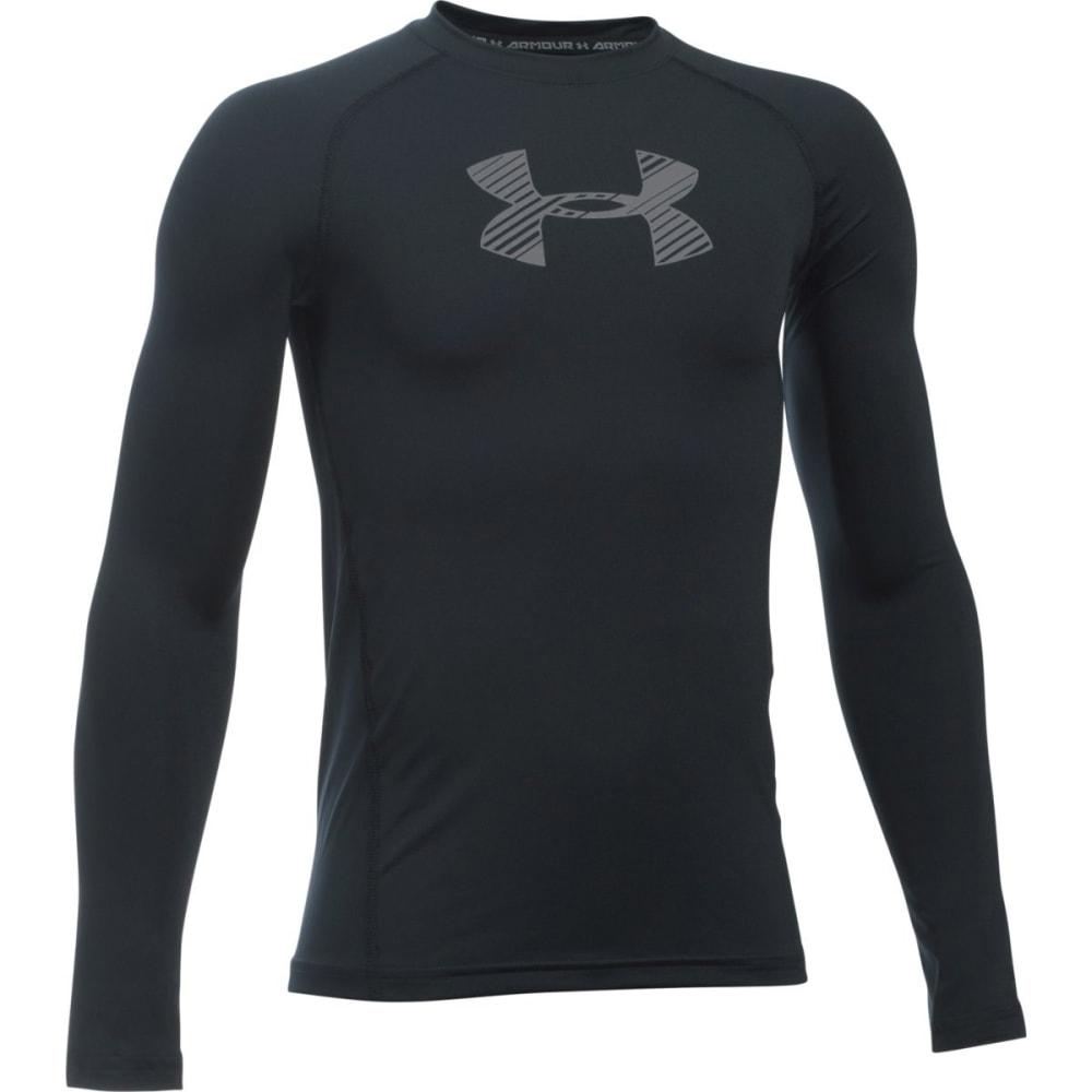 UNDER ARMOUR Boys' HeatGear Armour Long-Sleeve Shirt S