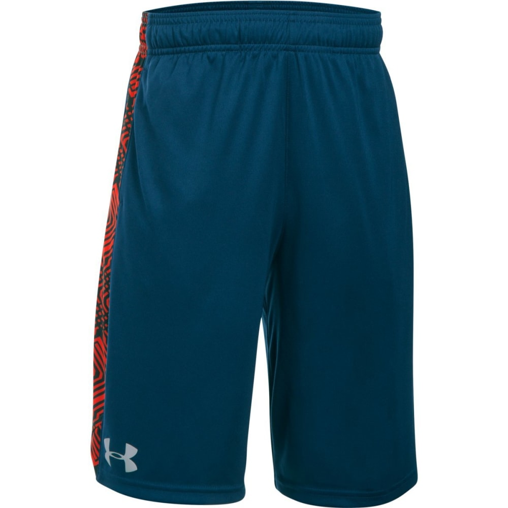 UNDER ARMOUR Boys' UA EIiminator Printed Short - 997-BLACKOUT NAVY