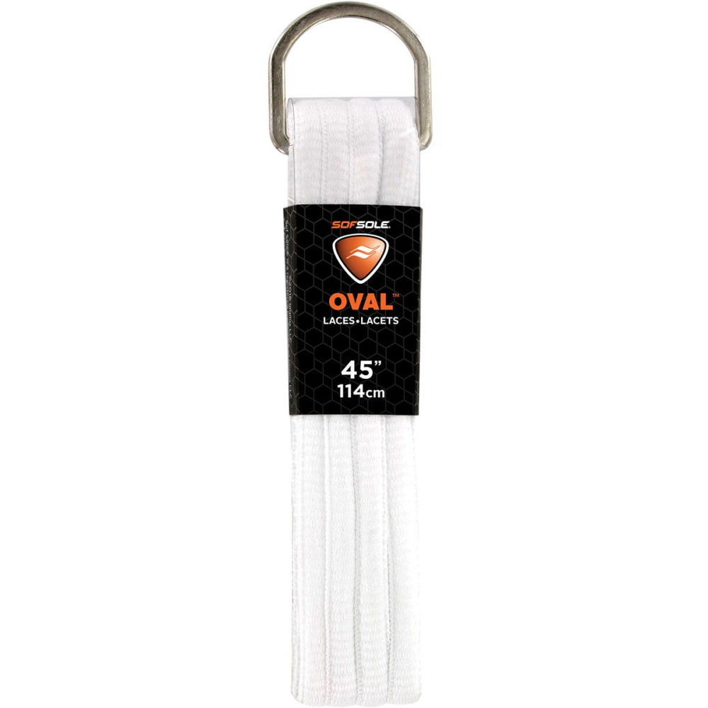 SOF SOLE 45 in. Athletic Oval Laces - WHITE 84735