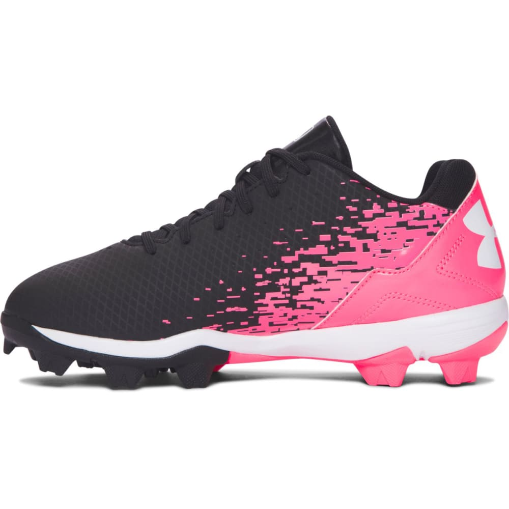 UNDER ARMOUR Girls' Leadoff Low RM Jr. Softball Cleats - BLACK