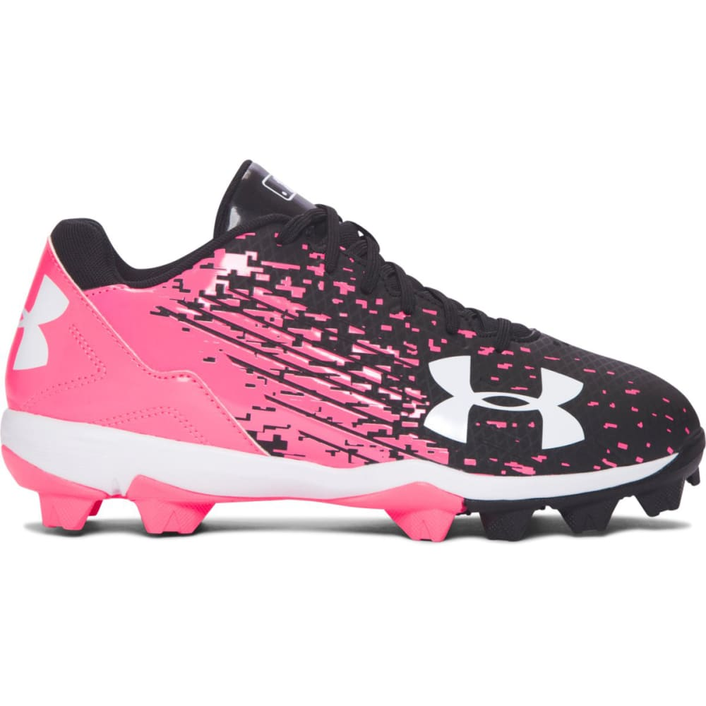 UNDER ARMOUR Kids' Leadoff Low RM Jr. Softball Cleats - BLACK